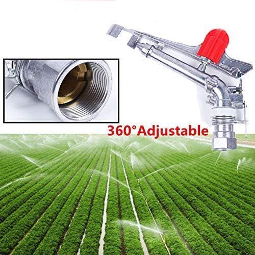 MElnN Aspersor de Impacto de 1.5 Pulgadas – rociador de césped de jardín con rociador de Agua de Metal Ajustable con rotación de 360 Grados para riego de Patios y Patios: Amazon.es: Jardín