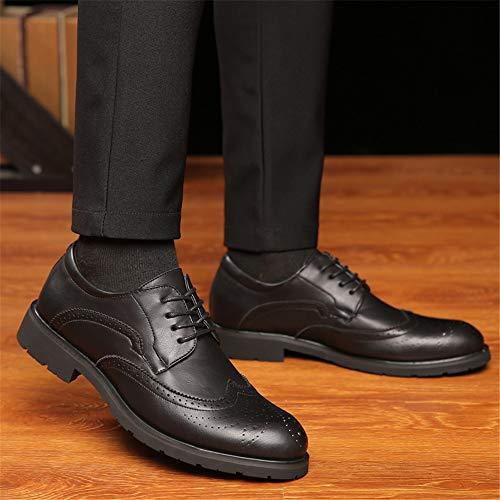 Pelle Riposo Intagliati Marrone color shoes Dimensione Oxford 40 Uomo Nero Casual Scarpe Eu Jiuyue Classiche Da Brogue Uomo Lacci 2018 Con a6Z0nxxC7