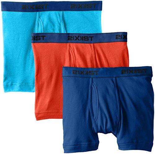 2(X)IST Men's Essential Cotton 3 Pack Boxer Brief, Monaco...
