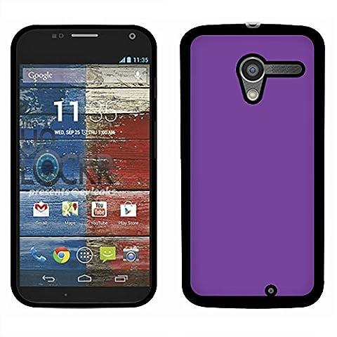 Motorola Moto X Phone XT1058 1st Gen 2013 Case, Fincibo (TM) Back Cover Slim Fit Hard Plastic Protector, Solid Orchid Purple (Moto X 1st Gen Phone Covers)