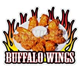 concession menu - BUFFALO WINGS Concession Decal chicken menu sign hot