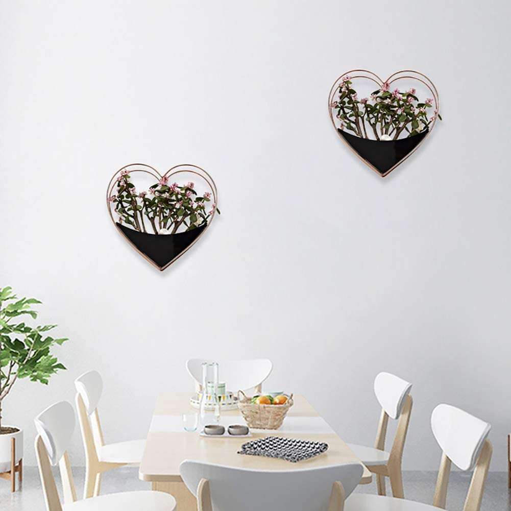 Mini Succlent Hanging Plant Pots The Fellie Wall Decor Container Lovely Wall Hanging Plant Vase for Cactus Plantsm L240xW230xH65mm Air Plant Black