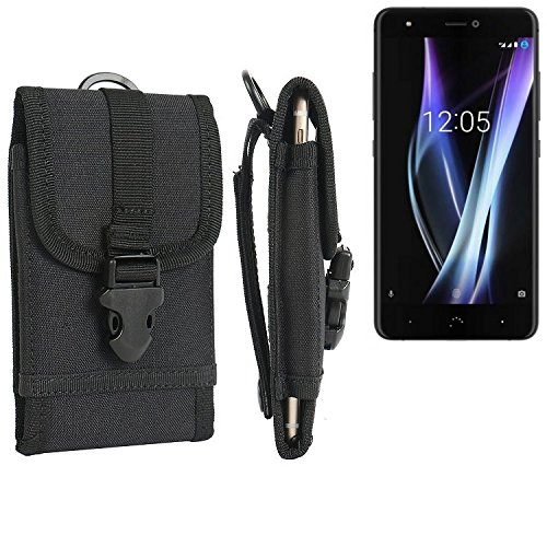 bolsa del cinturón / funda para BQ Aquaris X Pro, negro | caja del teléfono cubierta protectora bolso - K-S-Trade (TM)