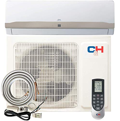 12000 BTU 115V Single Zone Ductless Air Conditioner Mini Split Heat Pump 22 SEER Energy Star Rated Full Set With Installation Kit