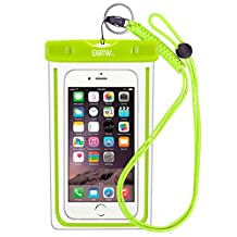EOTW IPX8 Waterproof Case Dry Bag with Lanyard for Cell Phone up to 6 inch,Waterproof Phone Pouch Bag iPhone 7/ 6/6s Plus,5s,SE/Samsung S8,S7 edge,S6 edge +,S5,j7,A7,A5/Huawei P8 lite,P9 lite plus,Honor 8/Sony Xperia z5,z4,z3/LG g5,g4,g3 Nokia Blu Moto Swimming Fishing Surfing Water Sports - Green