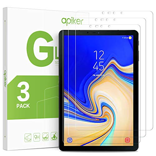 apiker [3 Pack] Galaxy Tab S4 Screen Protector, Tempered Glass Screen Protector for Samsung Galaxy S4 10.5 Inch - Work with S Pen