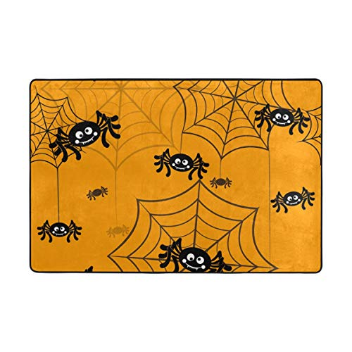 Top Carpenter Spider Halloween Symbols Area Rug Carpet for Living Room Bedroom 3'x2' Light Weight Polyester Fabric