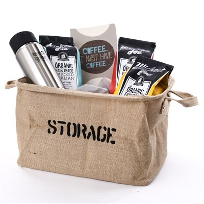 Coffee Gift Basket - Basket for Coffee Lover