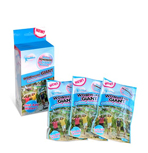 WOWMAZING Giant Bubble Concentrate Solution - Making Big Bubbles (3 Pouches of Bubble Refill) - Just Add Water - Made in USA