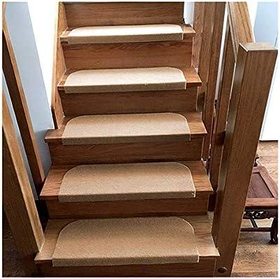 LBT Alfombras de Escalera 15 Juego De Alfombras/Alfombrillas Adhesivas Antideslizantes para Alfombras De Escaleras Step To Tread Stair casa Pura Alfombras para escaleras: Amazon.es: Hogar
