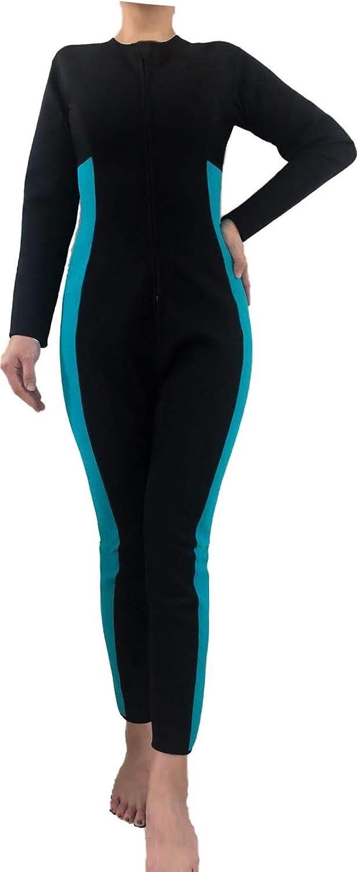 SISYAMA Women Sauna Neoprene Sweat Workout Fitness Weight Loss Hot Slimming Suit Long Pants//Sleeves