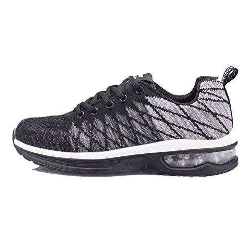 Ragazza Grigio01 Scarpe Gym Unisex Basse Da Cuscino D'aria Shoes Corsa Running Ginnastica Ragazzo Uomo Casual 35 Fitness Sneakers Basket Sportive 48 Donna Eqqpw1O