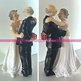 Figurine Couple Marié danseur depuis 50 ans, Anniversaire Mariage Noces d'Or, 12.4cm