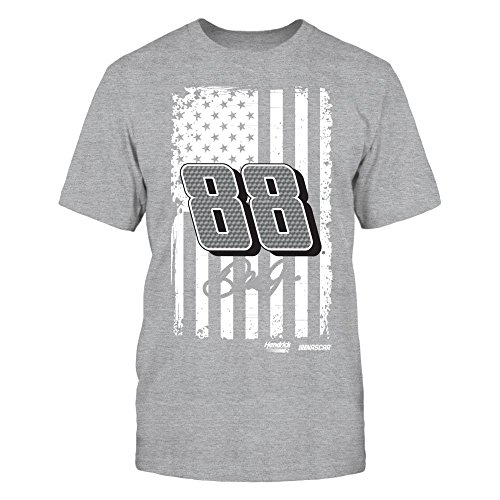 FanPrint Dale Earnhardt Jr. T-Shirt - Show Your Pride - Premium Men's Tee/Grey/XL Dale Earnhardt Jr Apparel