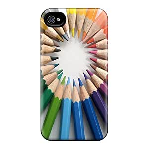 Maria N Young Iphone 4/4s Hybrid Tpu Case Cover Silicon Bumper Pencil