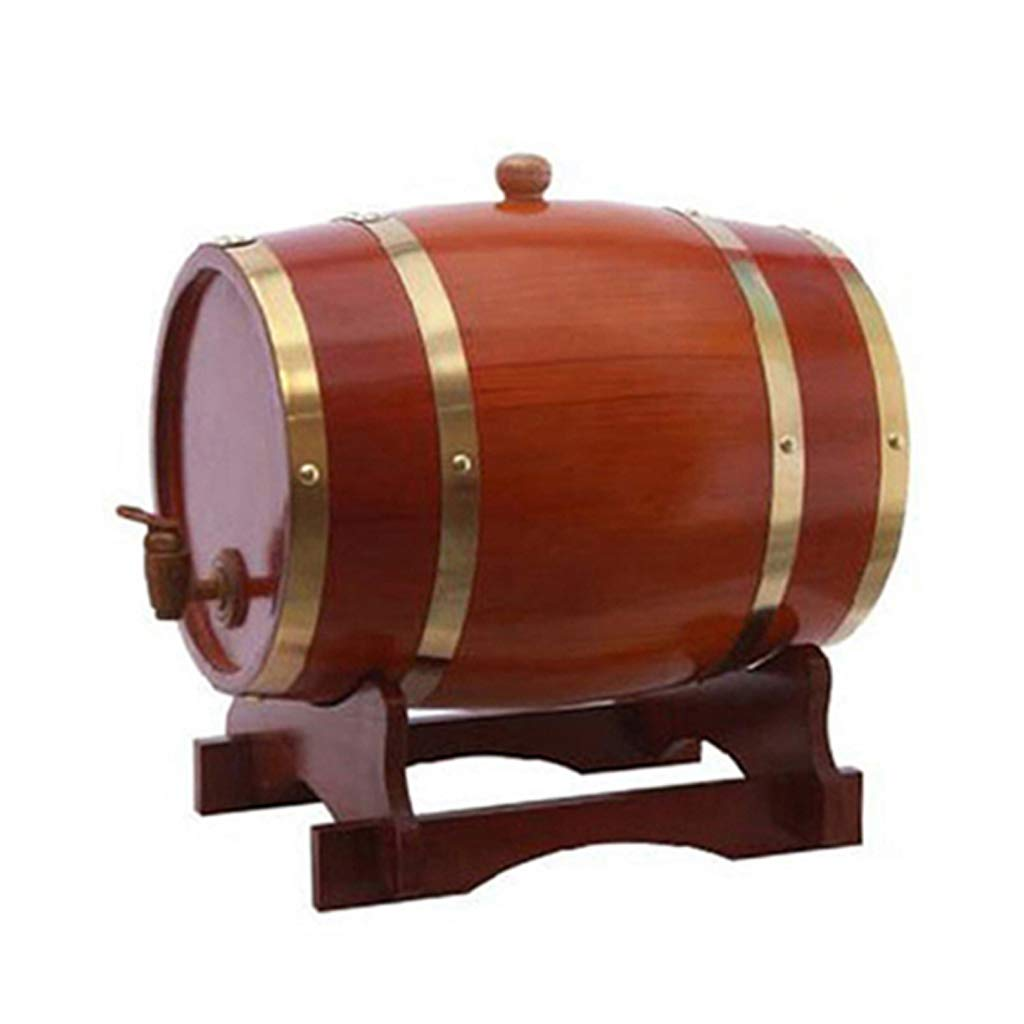 Wine barrel GX Household Oak Barrels Red White Beer Barrels Filled with Wine Decorated Oak (Color : Chocolate Color, Size : 20L)
