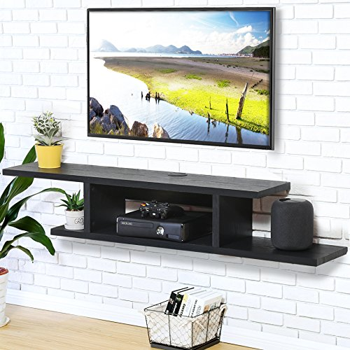 Price comparison product image Fitueyes Wall Mounted Audio / Video Console wood grain for xbox one / PS4 / vizio / Sumsung / sony TV.DS211801WB