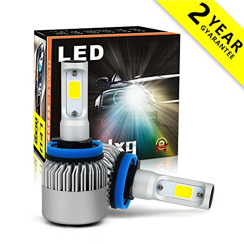 LED Headlight Bulbs H11 Headlamp bulb All-in-One Conversion Kits 6000K Cool White 8000LM Extremely Super Bright COB Chips Fog Light Halogen Headlight Replacement Bulb- Pack of 2