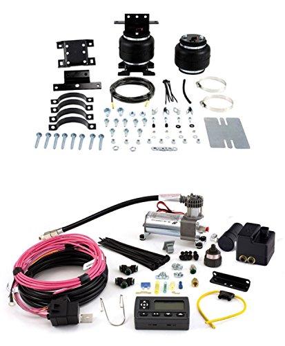 Air Lift 88105/72000 Set of Rear Load Lifter 5000 Ultimate Series w/Wireless AIR Dual Path On-Board Air Compressor System Kit for G25/G35/B100/B200/B300/B150/B250/B350/G20/G30
