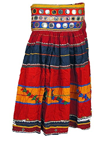 [Long Gypsy Boho Skirt Handmade Vintage Banjara Indian Tribal Costume Clothing M] (Banjara Dance Costumes)