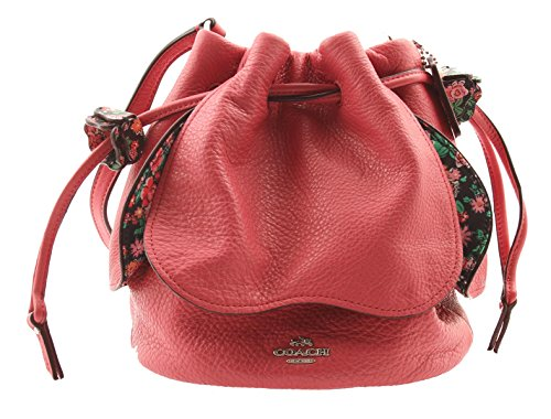 Strawberry Petal (COACH Pebble Leather Petal Bag Crossbody, F57543 (Strawberry))
