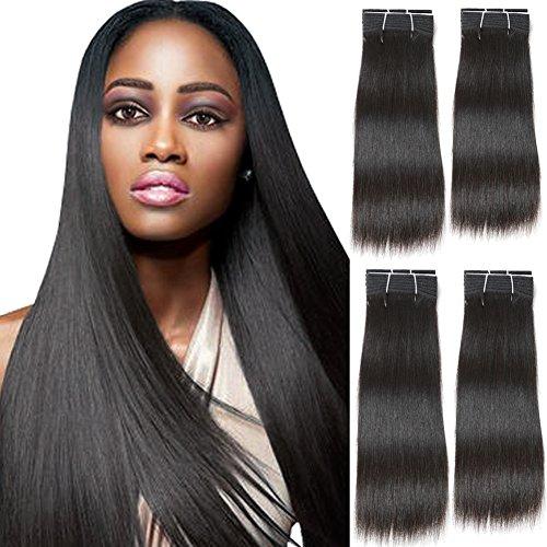 SLEEK 4 Bundles of Mid-Length Brazilian Straight Hair (14