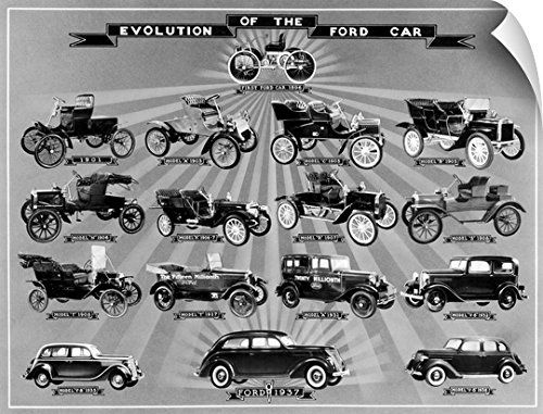 Canvas On Demand Wall Peel Wall Art Print entitled Automobile: Ford - Ford Model Late