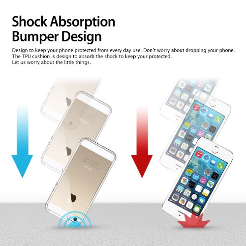 Ringke Fusion TPU Bumper Case Cover, Shock Absorption with Anti-Scratch Coated for iPhone SE/5S/5