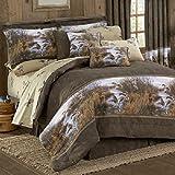 Duck Approach 9 Pc King Comforter Set (1 Comforter, 1 Flat Sheet, 1 Fitted Sheet, 2 Pillow Cases, 2 Shams, 1 Bedskirt, 1 Square Accent Pillow) SAVE BIG ON BUNDLING!