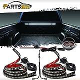running board light strip - Partsam Truck Bed Light White LED Strip Tailgate Light Bar 2pcs 60