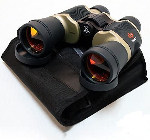 Binoculars Day Night 20×60 Outdoor Bronze w Pouch Perrini Camping
