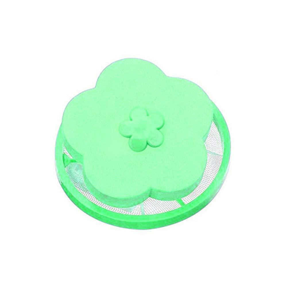 BabiQ リントフィルターバッグ 再利用可能 洗濯機用 フローティングリントメッシュバッグ 洗濯機用ヘアネットポーチ B07PKQGTP2 1PC Green + 1PC Orange