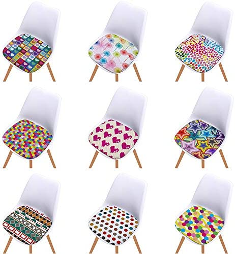 Cosanter Coussin de Couleur en Treillis g/éom/étrique Coussin de Chaise D/écoration de Meubles de Jardin pour chaises de Cuisine Jardin Salle /à Manger Galette de Chaise Couleur A