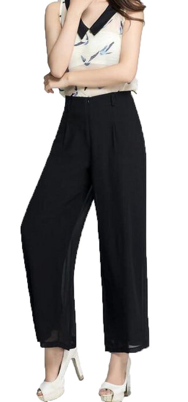 Generic Women's Vingtage Breathable Comfy Trousers Wide Leg Pants