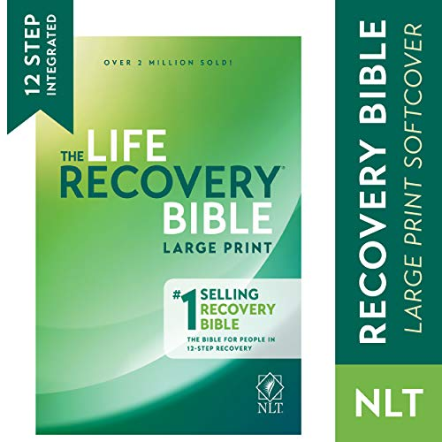 Tyndale NLT Life Recovery Bible (Large Print, Softcover) 2nd Edition - Addiction Bible Tied to 12 Steps of Recovery for Help with Drugs, Alcohol, Personal Struggles - With Meeting Guide (Prints Cover)