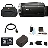 Sony HDR-CX675 Handycam Full HD 1080p Camcorder w/ Lithium Ion Replacement Batte