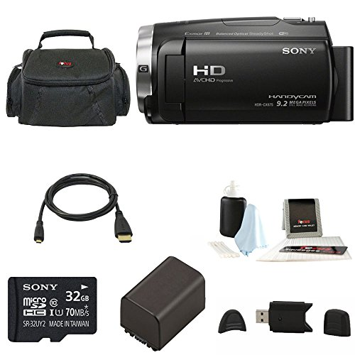 Sony HDR-CX675 Handycam Full HD 1080p Camcorder w/ Lithium Ion Replacement Batte by Focus Camera