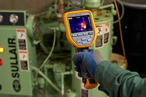 Fluke TIS20 9HZ Thermal Infrared Camera with 3 IR-Fusion blending modes, Voice Annotations, Fixed Focus, 120x90 Resolution