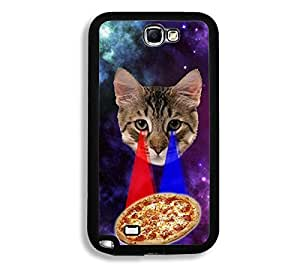 Shawnex Springink Hipster Cat Eying Pizza Nebula Space Thinshell Case Protective Note 2 Case