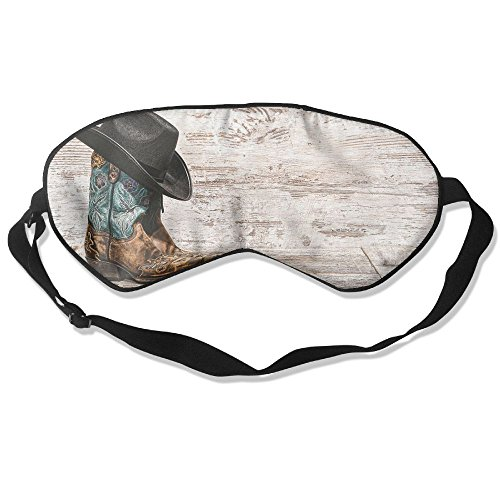 ZHYPMNU Sleep Mask Cowboy Hat and Cowgirl Boots Unisex Eyepatch Mask Eye (Cowgirl Costume At Home)