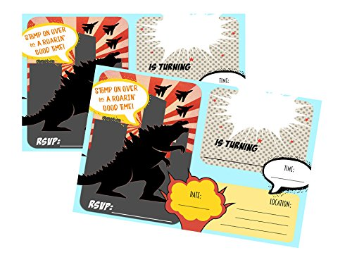 Godzilla Monster Party Supply Package Set (Invitations)