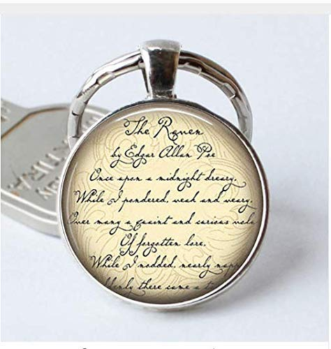 The Raven Keychain, Edgar Allan Poe Quote Literary