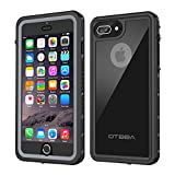 iPhone 7 Plus/8 Plus Waterproof Case, OTBBA Underwater Snowproof Dirtproof Shockproof IP68 Certified with Touch ID Full Sealed Cover Waterproof Case for iPhone 7 Plus/8 Plus-5.5in (Black)