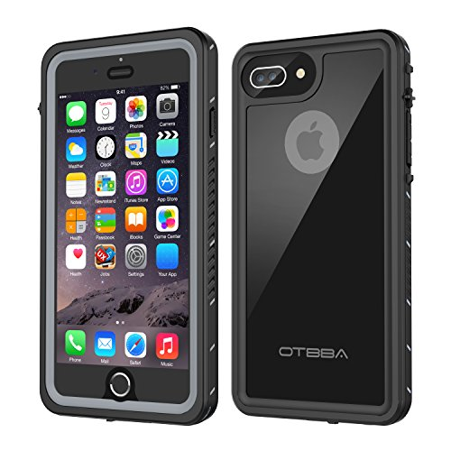 - iPhone 7 Plus/8 Plus Waterproof Case, OTBBA Underwater Snowproof Dirtproof Shockproof IP68 Certified with Touch ID Full Sealed Cover Waterproof Case for iPhone 7 Plus/8 Plus-5.5in (Black)