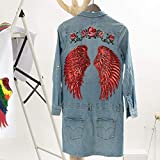 LOVEINUSA 7 Pair of Wings Sequins Angel Wings Iron