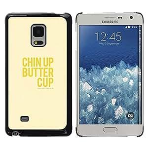 """Pulsar Snap-on Series Teléfono Carcasa Funda Case Caso para Samsung Galaxy Mega 5.8 , Optimista feliz amarillo Positivo texto"""""""