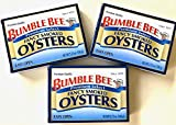 Bumble Bee Premium Select Fancy Smoked Oysters (3 pack 3.75oz ea)