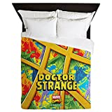CafePress Doctor Strange Sanctum Window Queen Duvet Cover, Printed Comforter Cover, Unique Bedding, Microfiber