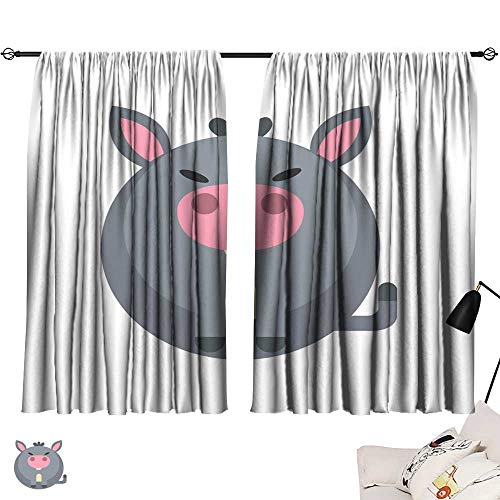 SINXY&CASE Curtain Set Donkey Flat Illustration 84