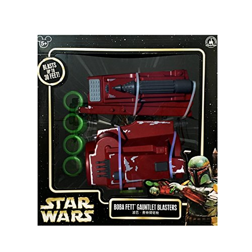 Star Wars Boba Fett Gauntlet Blasters Disney Parks Authentic -